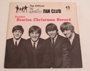 "Beatles 1964 FAN CLUB RECORD 'ANOTHER CHRISTMAS RECORD' 7"" FLEXI WITH INSERT NM AUDIO"